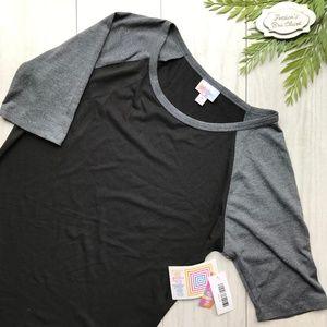 LULAROE Julia Dress Black & Grey NWT Medium M